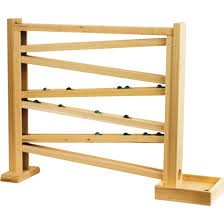 (Mom's Healthy Market Classic Wooden Marble Run / Roller Track, 18