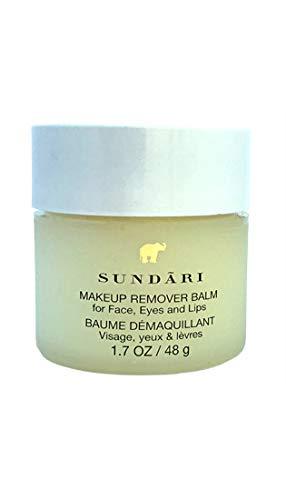 SUNDARI Makeup Remover Balm - Use on Face, Eyes and Lips, Moisturizer, Formulated