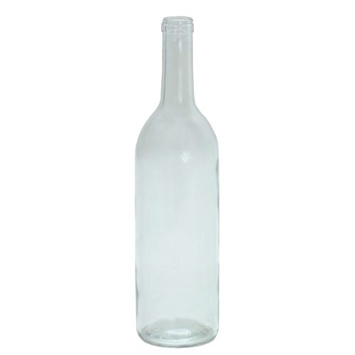 750 ml Clear Glass Claret/Bordeaux Bottles, 12 per case by Midwest Homebrewing Supplies (Image #1)