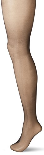 Hanes Silk Reflections Women's Perfect Nudes Sheer to Waist Pantyhose, True Black, Large