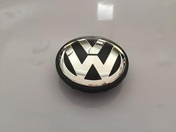 1 Pc Volkswagen Vw 65mm Negro del centro de rueda Tapacubos Logo Emblema: Amazon.es: Coche y moto