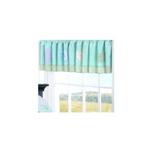 Jessica Breedlove Noahs Ark Valance, Blue Brown Discontinued by Manufacturer