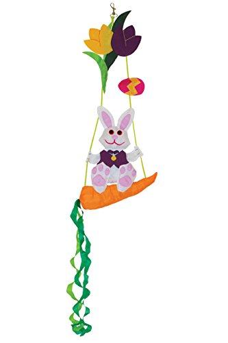 In the Breeze Bunny Swinger Outdoor Hanging Decor