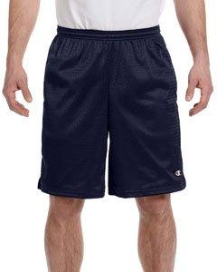 Champion Men's Long Mesh Short With - Short Running Shorts Mens