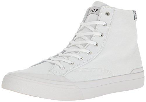 HUF Men's Classic HI Ess TX Skateboarding Shoe, White, 9 M US