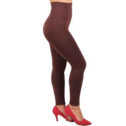 Surblue Seamless High Waist Tummy Control Slimming Stretch Leggings, S
