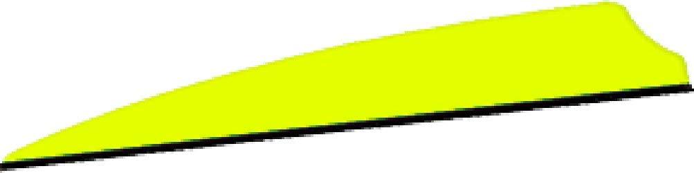 Q2I Archery Q2I9066 Fusion X-II 4 Neon Yellow Vanes