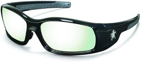 Crews SR119AF Swagger Brash Look Polycarbonate Dual Lens Glasses with Polished Black Frame Clear Anti-fog Lens