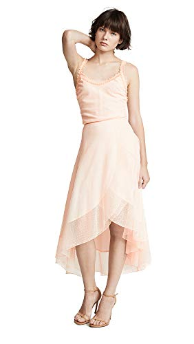 Ewa Herzog Women's Dot Lace Midi Dress, Blush, Pink, 2