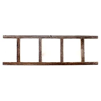 BarnwoodUSA Rustic 4 Foot Decorative Wooden Ladder - 100% Reclaimed Wood
