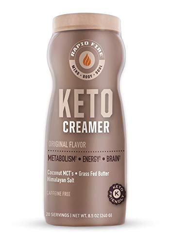 Rapid Fire Ketogenic Creamer with MCT Oil for Coffee or Tea, Supports Energy and Metabolism, Weight Loss, Ketogenic Diet…
