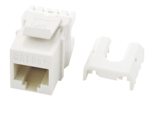 Legrand - On-Q WP3475WH10 Cat5e RJ45 Quick Connect Keystone Insert with 110 Punch-Down (10 Pack), White