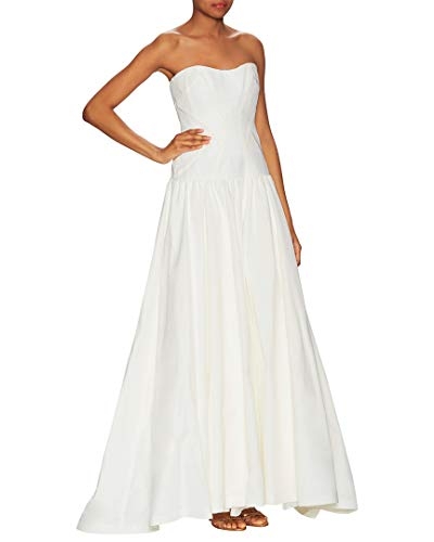 Nicole Miller Women's Laurel Silk Faille Bridal Gown, Antique White, 2