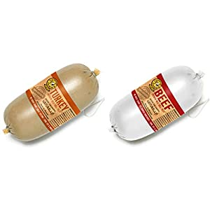 Happy Howie's Premium Meat Roll Dog Treat in 2 Flavors - Beef and Turkey (2 Rolls Total, 16 Ounces Each) 90