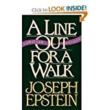 A Line Out for a Walk, Joseph Epstein, 0393029557