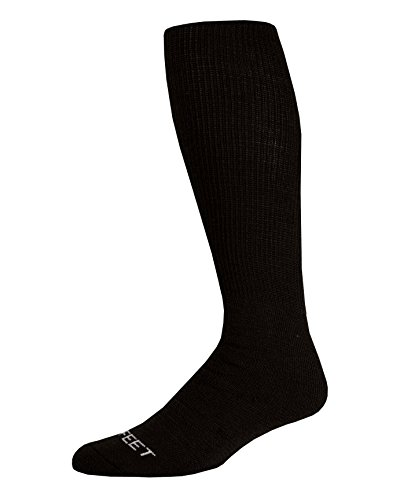 Pro Feet Multi-Sport Cushioned Acrylic Tube Socks, Black, Large/Size 10-13 ()