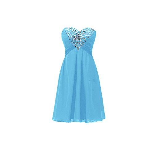 Donna Vestito Bridal Senza maniche Azzurro Mall nWa0Sa6