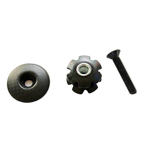 (DEERU 3K Light Bicycle Carbon Fiber Headset Top Cap Kit 1-1/8