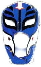 Rey Mysterio White Mask (WWE Official Rey Mysterio Youth Size Blue & Black Wrestling Mask Licensed)