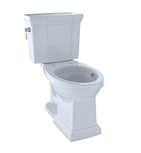 TOTO CST404CUFG#01 Promenade II 1G Two-Piece Elongated 1.0 GPF Universal Height Toilet with CeFiONtect, Cotton (Elongated Two Sanagloss Toilet Piece)