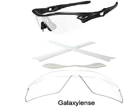 af188151a7 Galaxy Replacement Lenses + Nose Pad + Earsocks For Oakley Radar Path Clear  Color