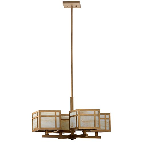Safavieh Lighting Collection Craftsman Antique Gold 55.1-inch Chandelier