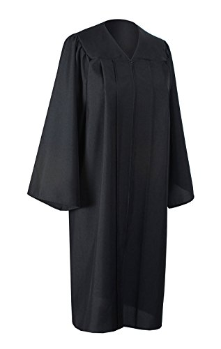 GraduationForYou Unisex Adults Choir Robes Graduation Matte Gown Only Black