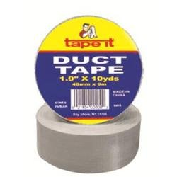 Tape it Silver Color Duct Tape 1.89 in x 10 Yards, 48mm x 9.14m