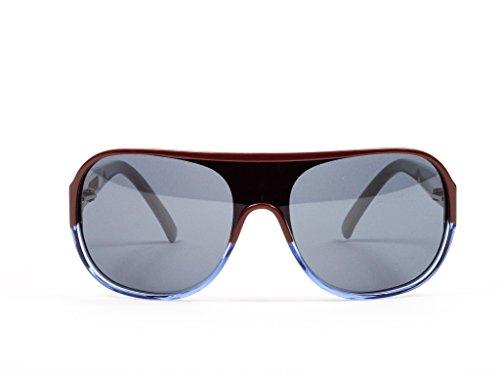 Marni Multi-Color Aviator Sunglasses, Brown/Blue/Grey