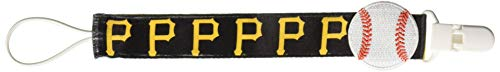 Baby Fanatic 3 Piece Pacifier Clip, Pittsburgh Pirates (Baby Pirate Pacifier)