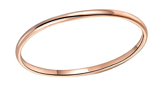 LOVE Beauties 1.5 MM Titanium Comfort Fit Wedding Band Ring Rose Gold Plated Classy Domed Ring(7)