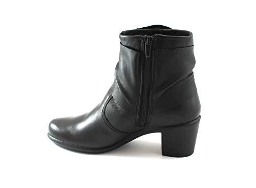 Enval Bottines Zippées Chaussures Cuir En Noires Soft Femme Nero 2253200 gqgrF