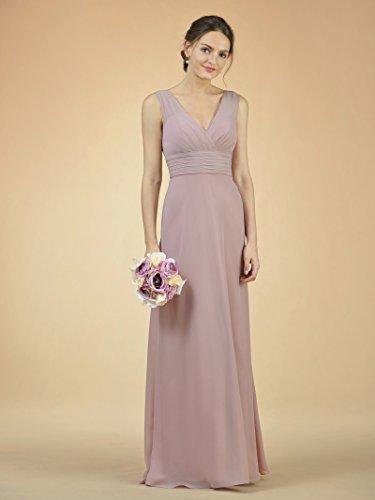 Chiffon Alicepub Party Royal Blue Bridesmaid Gown Bridal Long Neck V Dress Dress Evening Prom qnIU0wI1r