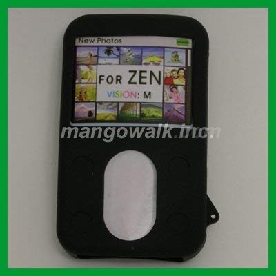 Silicone Black Skin Case with Armband for Creative Zen Vision M