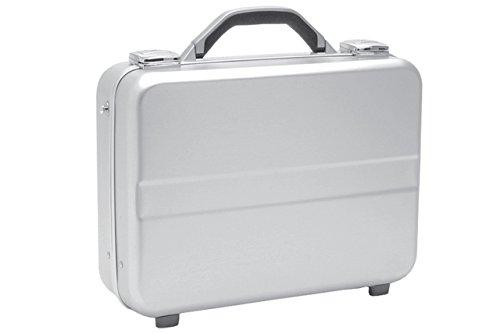T.Z. Case International T.z Compact Molded Aluminum Attache Case with Shoulder Strap, Silver