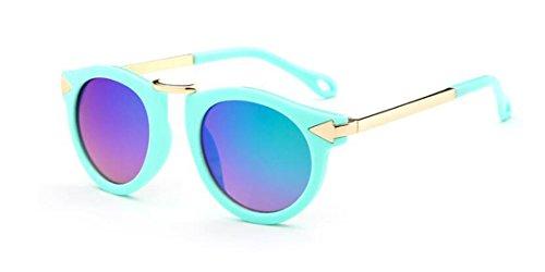 GAMT Children's Sunglasses UV Sunglasses Metal Arrow Green box green - Glasses With Girl Scene