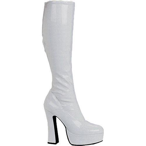 Ellie Shoes Women's 5 Inch Heel Stretch Knee Boots. with Inner Zipper (White;9)