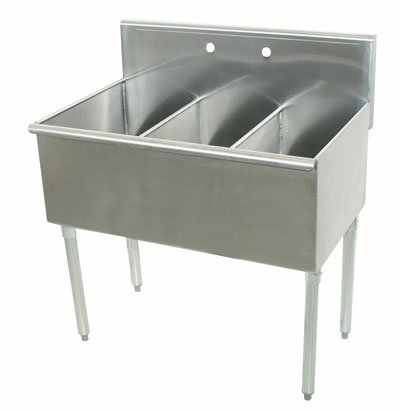 Compartment Square Corner Sink - 2