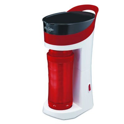 Mr. Coffee Pour! Brew! Go! 16-Ounce Personal Coffee Maker with Insulated TO-GO mug, Candy Apple Red, BVMC-MLRD by Mr. Coffee