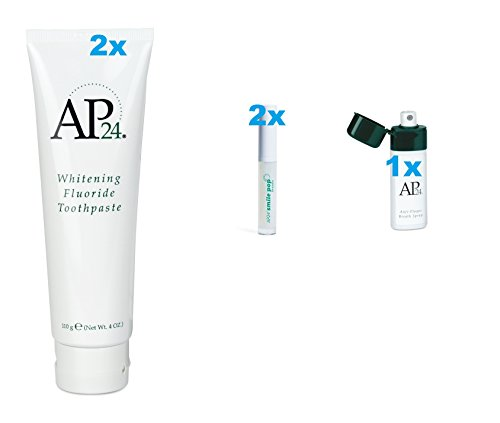 Kissable lips kit with peroxide free whitening toothpaste smile brightening lip gloss and breath spray