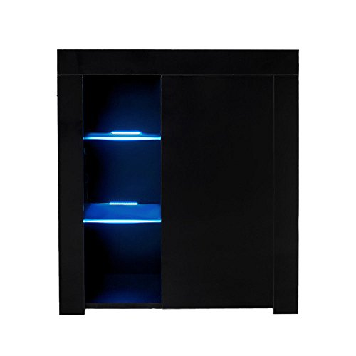 High Gloss Sideboard With Led Lights in US - 9
