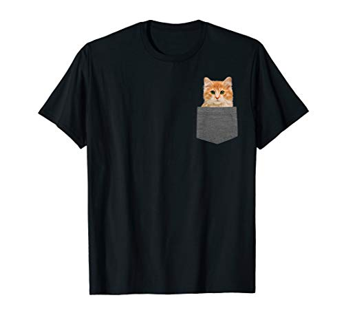 - Kitty in Your Pocket Tshirt Cat Shirt