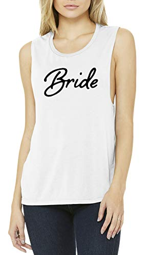 TGWED-BRIDE-09M - Bridal Tank Top - Bride - White (M)