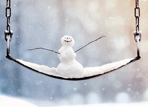 Avanti Press - Avanti Press Christmas Notecards, Little Snowman on a Big Swing, Count of 10 (701320)