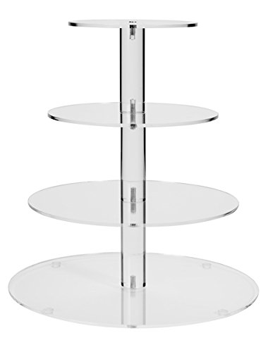 4 Tier Round Wedding Acrylic Cupcake Stand Tree Tower Cup Cake Display(4TR)