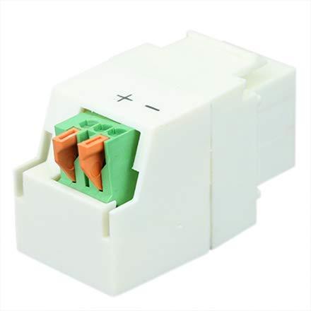Construct Pro Keystone Jack 1/8 inch Mono Mini Plug (White)