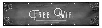 CGSignLab Chalk Corner Heavy-Duty Outdoor Vinyl Banner Free WiFi 16x4