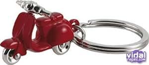 Llavero vespa rojo zinc