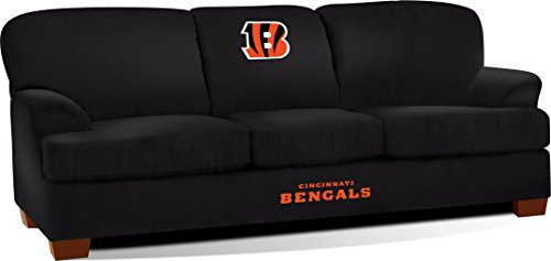 Imperial Officially Licensed NFL Furniture: First Team Microfiber  Sofa/Couch, Cincinnati Bengals
