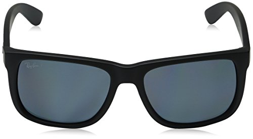 Ray-Ban Mens 0RB4165 Justin Polarized Sunglasses, Black Rubber, 55mm